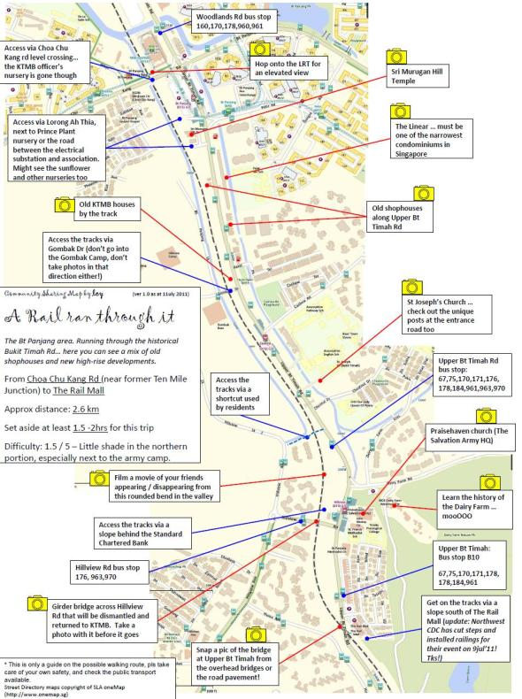 Walking Route From Choa Chu Kang Road To Rail Mall The Green - Map your walking route